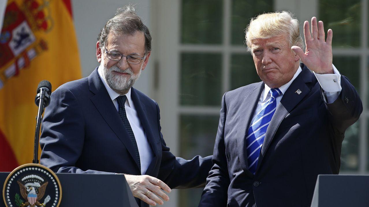 Trump defiende la unidad de España ante Rajoy en la Casa Blanca.Roy Price