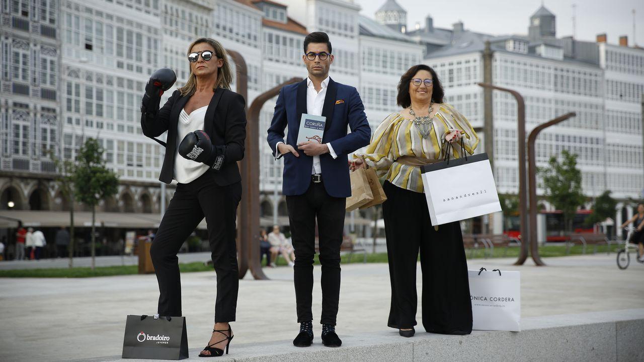 Laura Picado,  David Gigirey y Helena García-Señorans, autores del libro