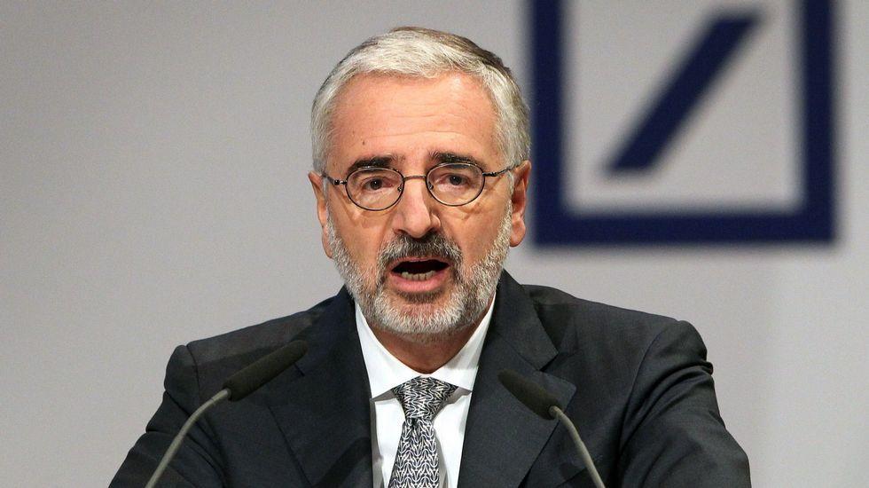 .El presidente de la Junta del Deutsche Bank, Paul M. Achleitner