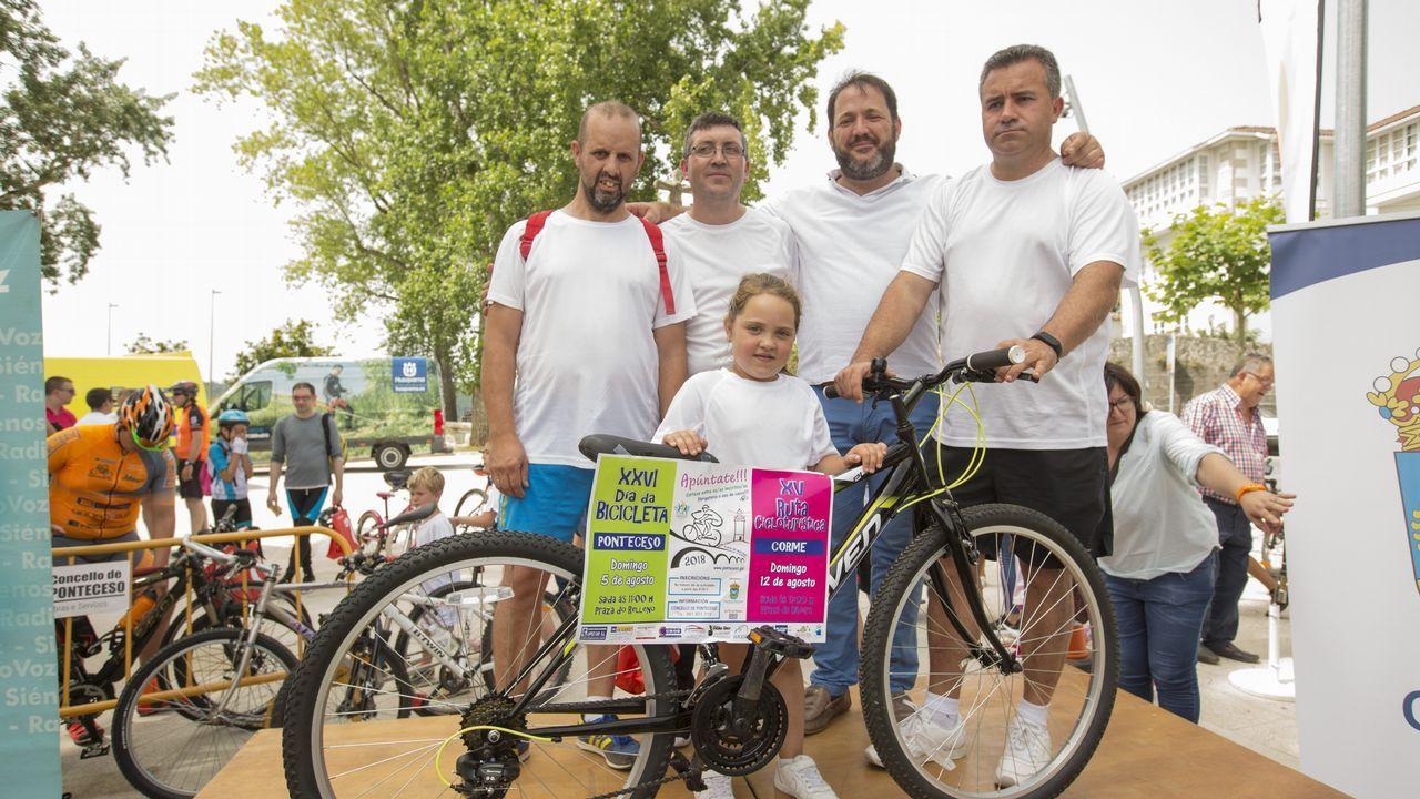 El Día da Bicicleta de Ponteceso en imágenes.