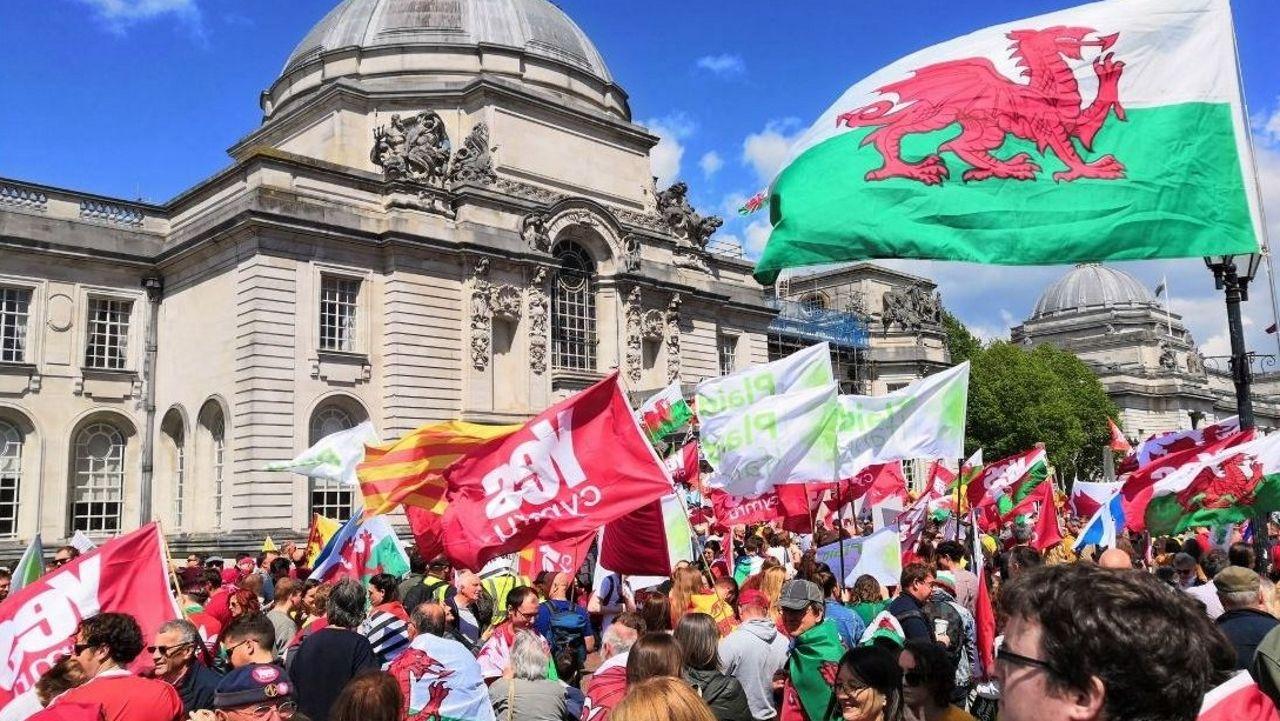 La concentración fue calificada como un éxito por los convocantes, a pesar de que solo el 12 % de los galeses se muestra partidario de la independencia