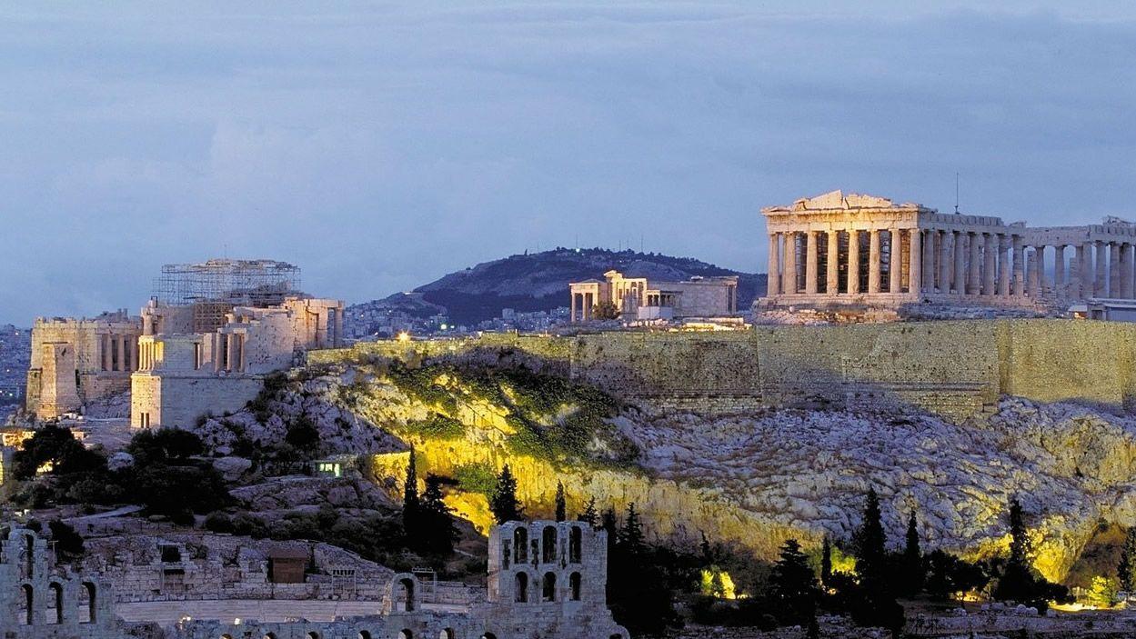 Panorámica de la Acrópolis de Atenas