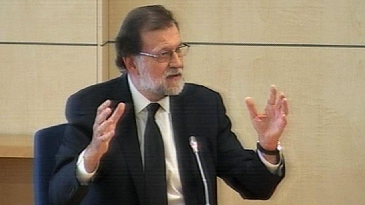 Rajoy declarando como testigo en la Audiencia Nacional por la Gürtel.