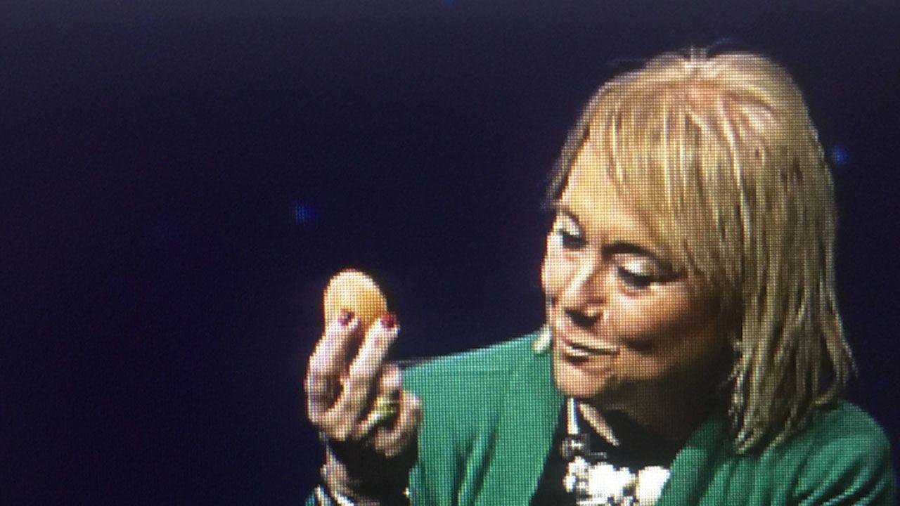 Mercedes Fernández, durante el programa