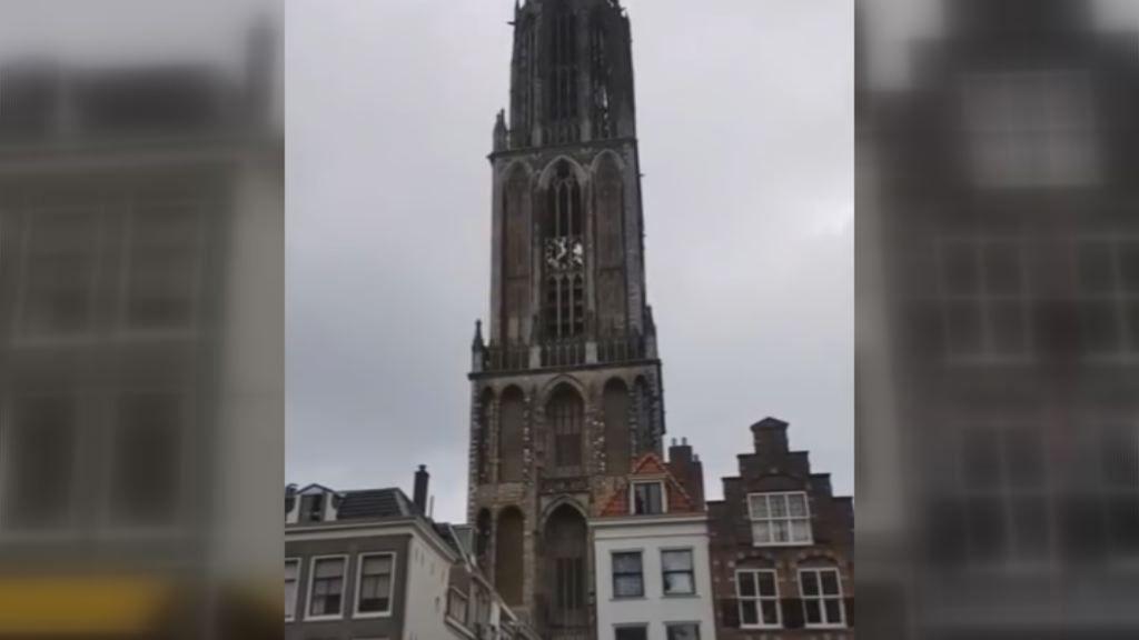 Así suena Avicii en el campanario de la Dom Tower de Utrecht.