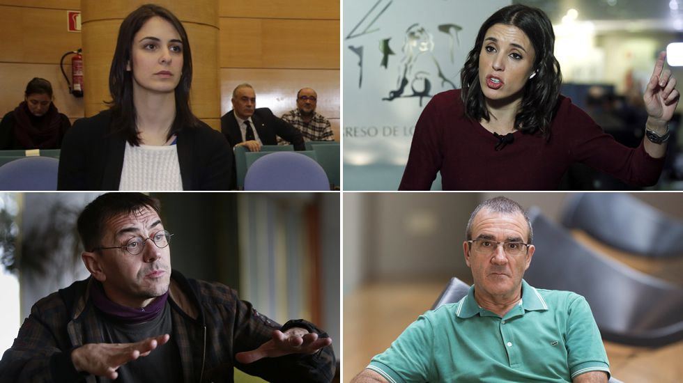 La crisis entre las corrientes de Podemos se recrudece en Navidad.Ánxela Rodríguez (izq.) y Carmen Santos (dcha.) en la rueda de prensa tras la victoria electoral de Feijoo, el 25 de diciembre.