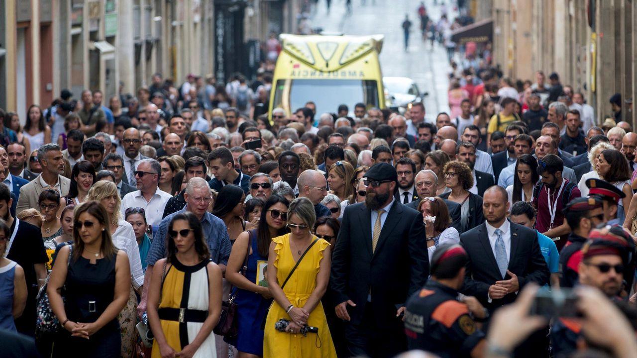 .Homenaje a las victimas del 17A en el aniversario de los atentados