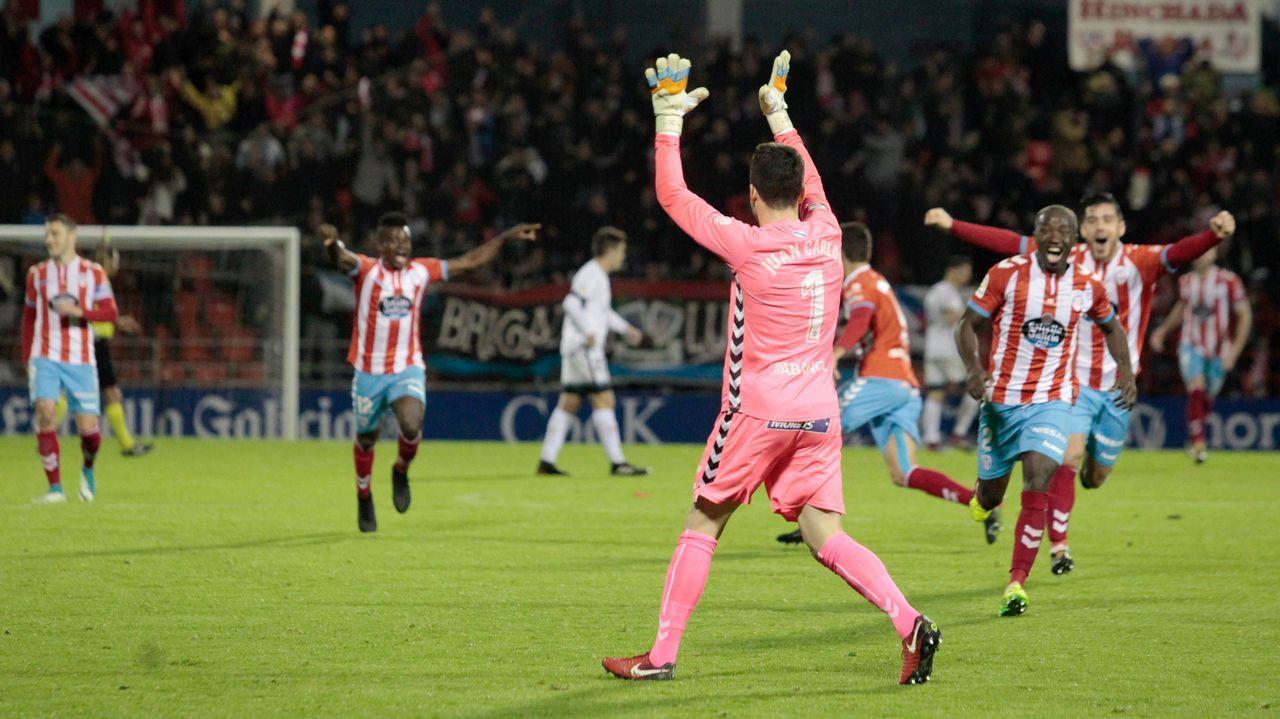 Las mejores imágenes del Lugo - Sporting.