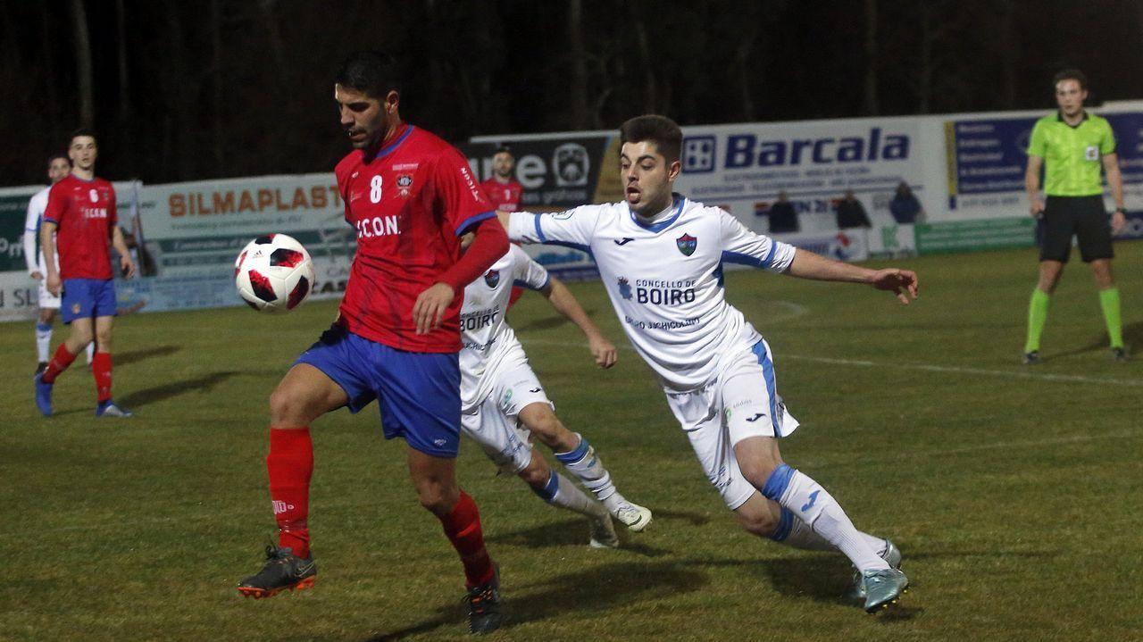Partido entre Boiro y Choco - Tercera División