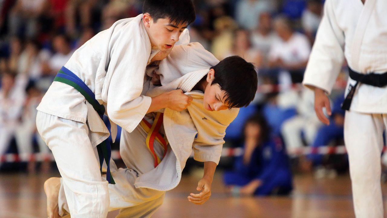 Campeonato de judo en Cambados.