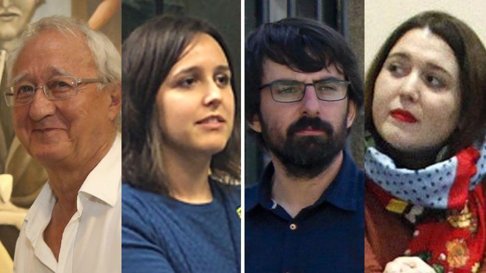 Errejónvincula la fuerza de Podemos al«tándem»con Pablo Iglesias.Xosé García Buitrón y Marlene Pérez, con Iglesias; Ánxela Rodríguez y Marcos Cal, con Errejón