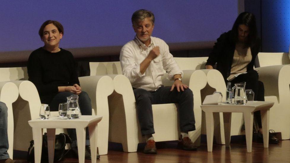 .Colau y Santisteve, en A Coruña el pasado mes de noviembre