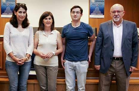 De izquierda a derecha, Triñanes, Carrillo, González y Arias, autores del estudio.