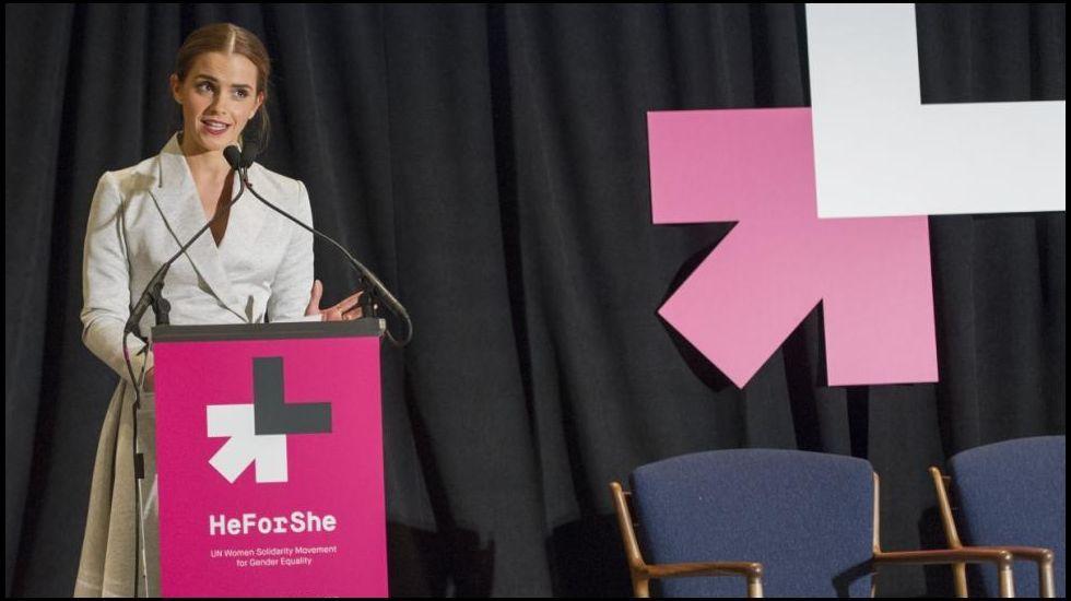 .La actriz y feminista Emma Watson, por la igualdad