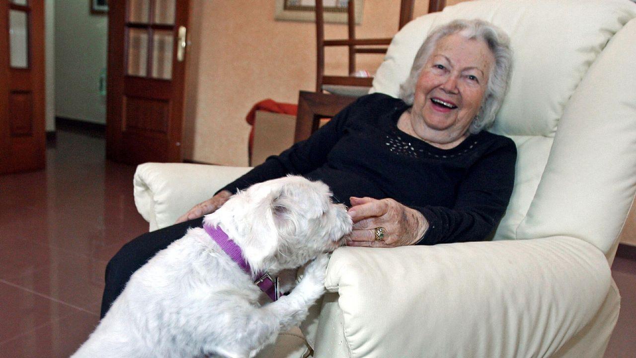 Ania Fuchs durante una entrevista realizada hace unos años