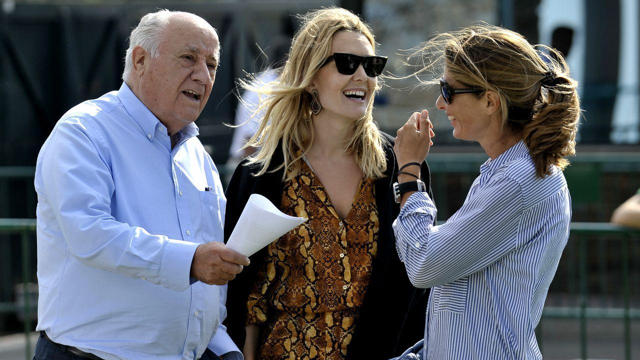 Amancio Ortega junto a su hija Marta
