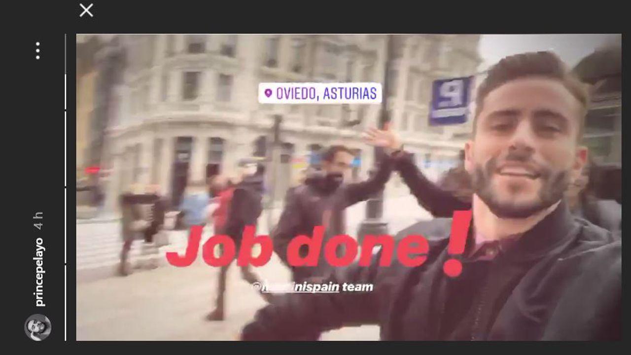 Captura del Instagram de Pelayo Díaz en Oviedo