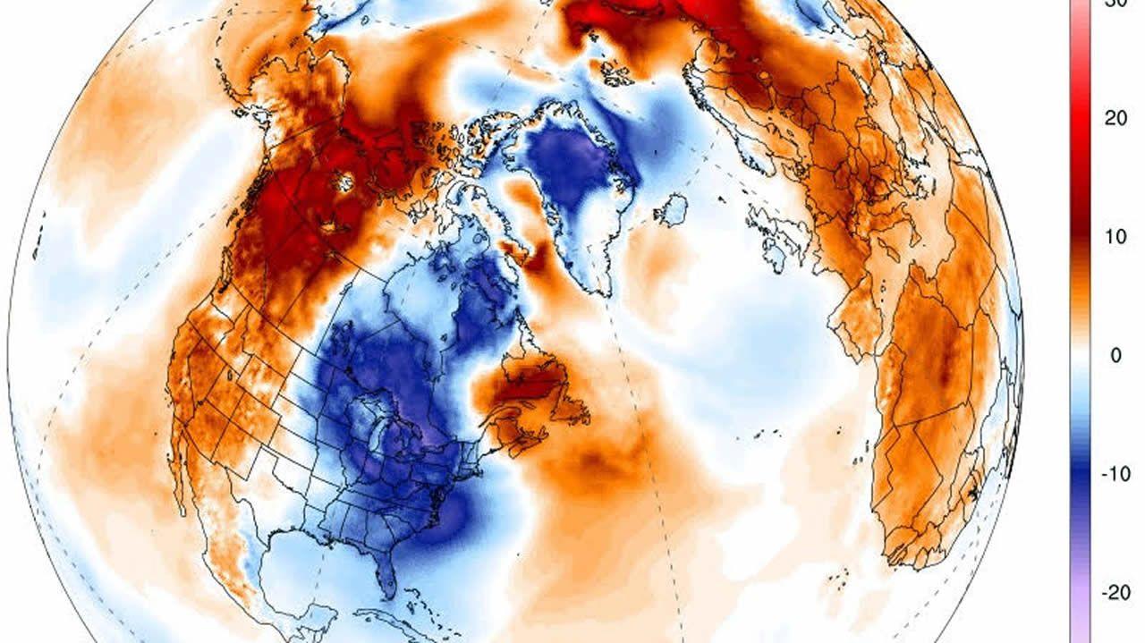 En Alaska se están registrando temperaturas por encima lo habitual y en Florida por debajo.