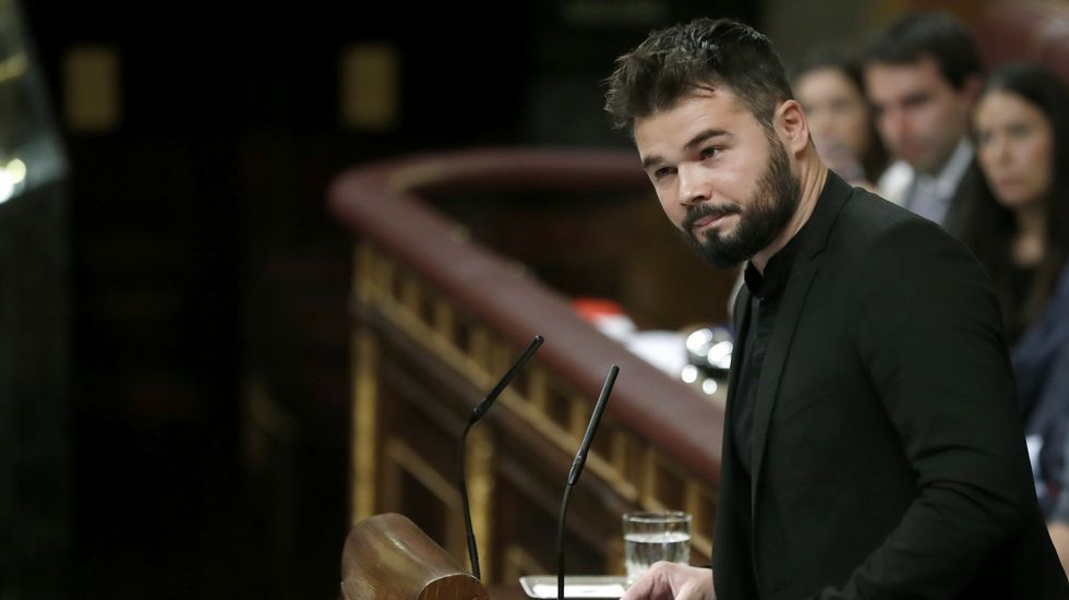 Así fue el duro discurso de Gabriel Rufián contra el PSOE en la investidura de Rajoy
