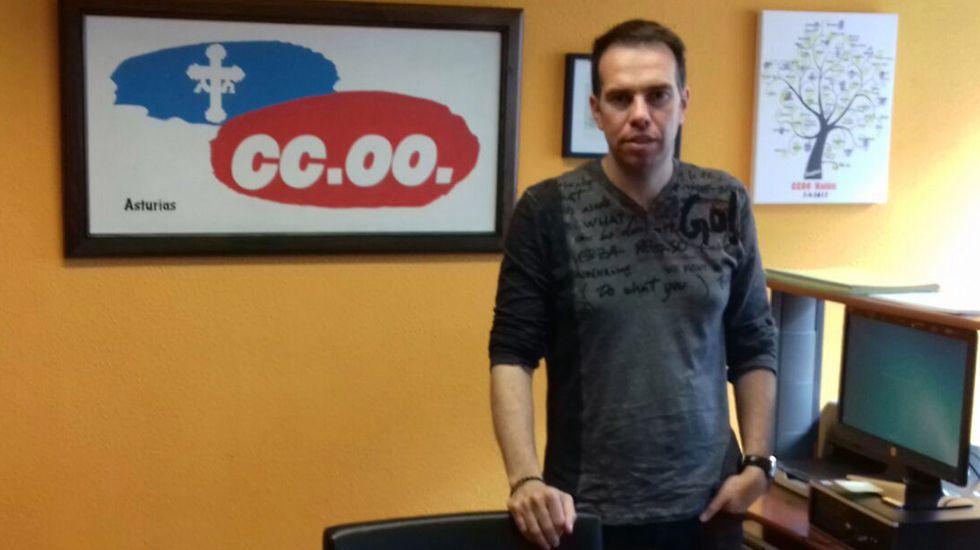 .José Manuel Zapico, secretario general del CCOO