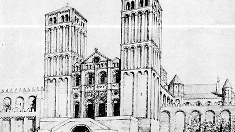 .Klaus Rheidt y Bernd Nicolai (centro), ayer en la presentación de sus teorías sobre la Catedral.
