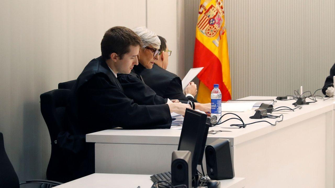 La abogada de Trapero, durante la sesión en la Audiencia Nacional