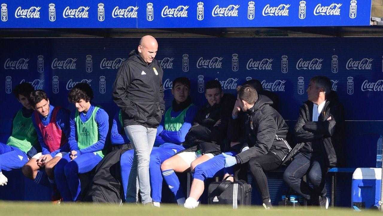 Rozada Vetusta Durango Requexon.Lucas Ahijado y Jimmy celebran el primer gol ante el Real Unión
