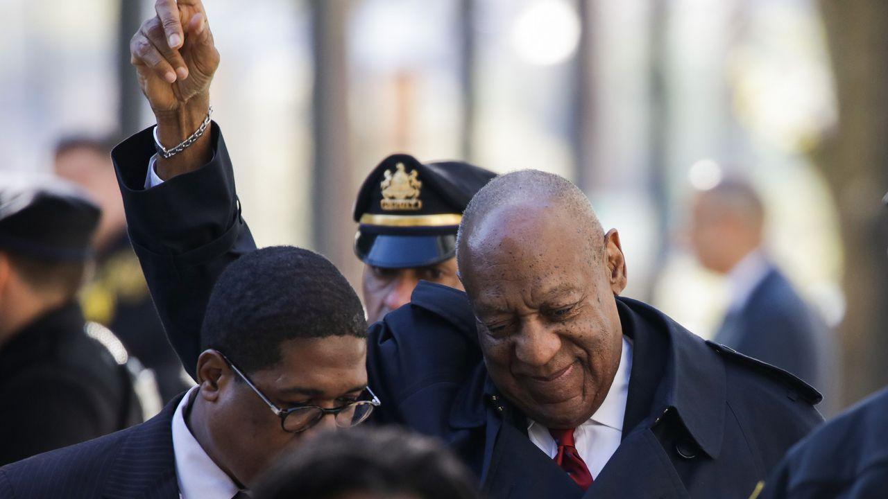 .El actor Bill Cosby, en el juzgado