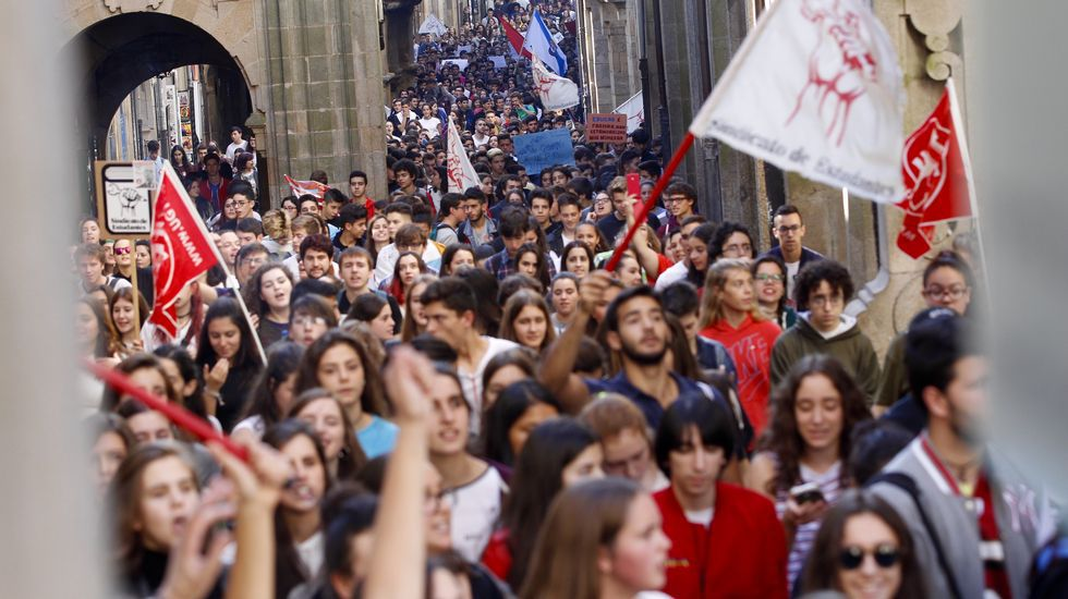 .Manifestación de estudiantes en Santiago