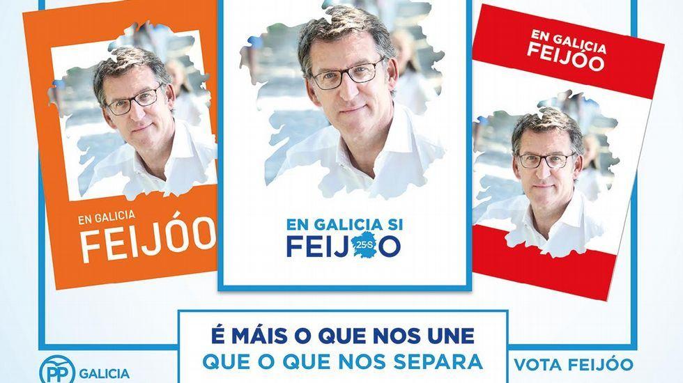 El nuevo Parlamento, en fotos.Feijoo estrena hoy, último día de campaña, folletos y carteles, como el de la izquierda, dirigido a votantes de Ciudadanos y el e la derecha, a los del PSOE.