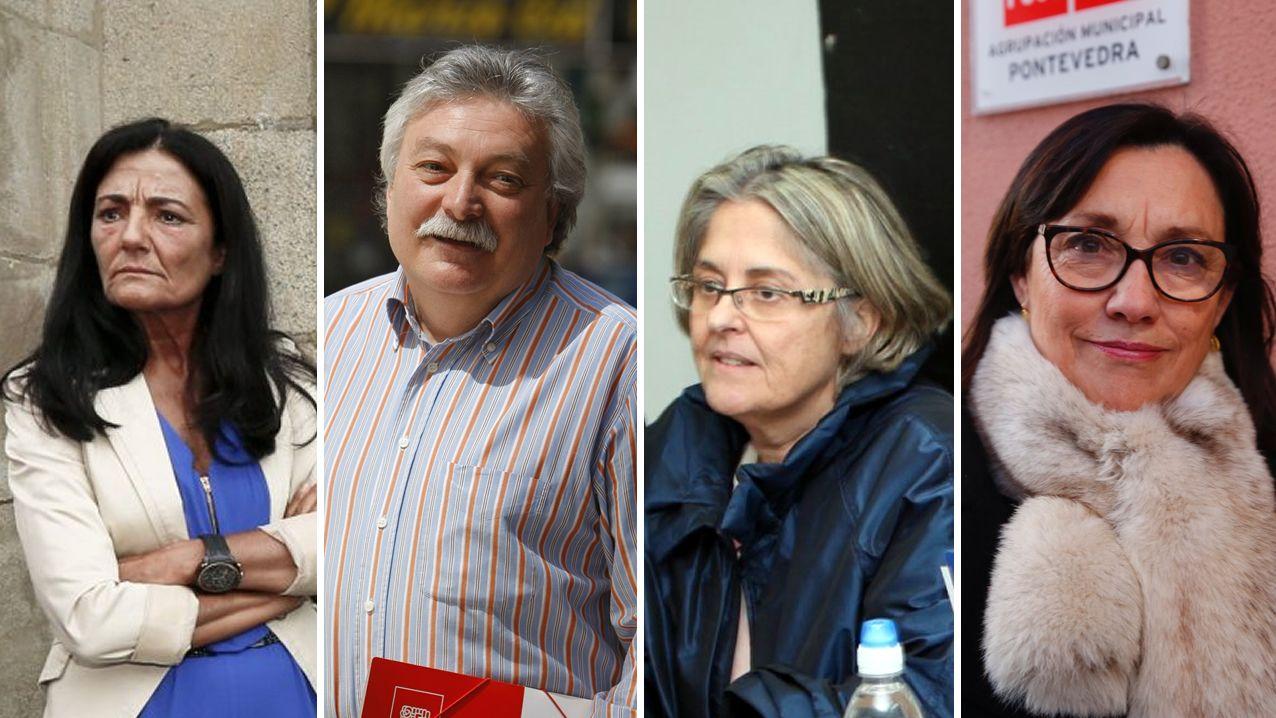 Subdelegados Gobierno.Isabel Rodríguez (Lugo), Emilio González Afonso (Ourense), Pilar López-Rioboo (A Coruña) y Maica Larriba (Pontevedra), subdelegados del Gobierno en Galicia