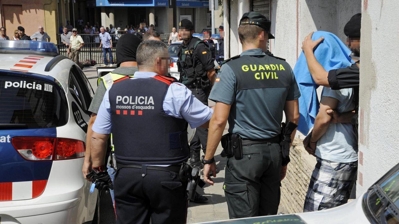Detención de uno de los terroristas de la célula de Ripoll, en una imagen de archivo