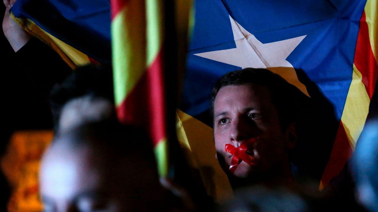 Protesta en Barcelona.