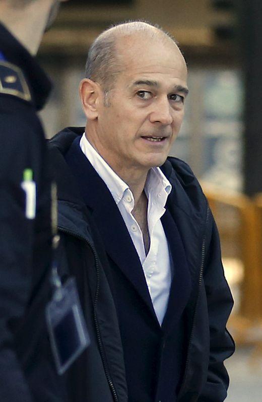 Pere Pujol, a su llegada al juzgado