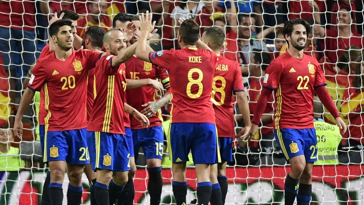 España - Italia, en imágenes.