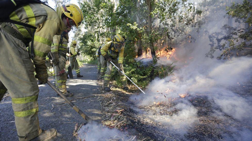 Incendios en Coirós y Aranga.