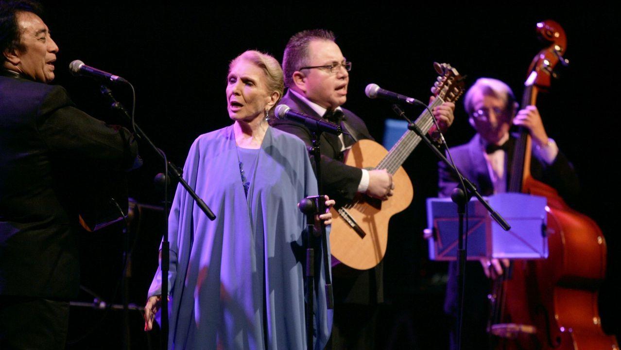 Maria Dolores Pradera en Lugo en el 2007