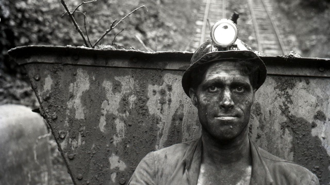 Minero en Mina Pumarabule, 1963 (fragmento)