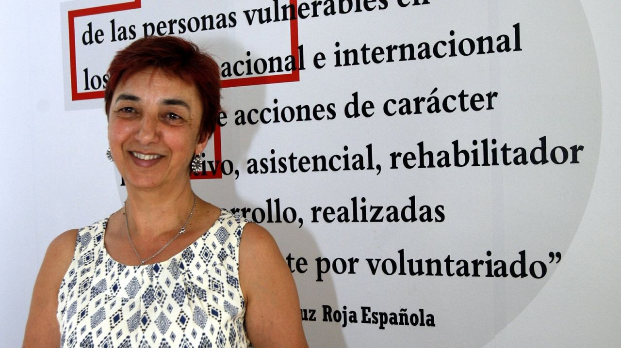 Pilar Méndez, coordinadora de Cruz Roja en Pontevedra