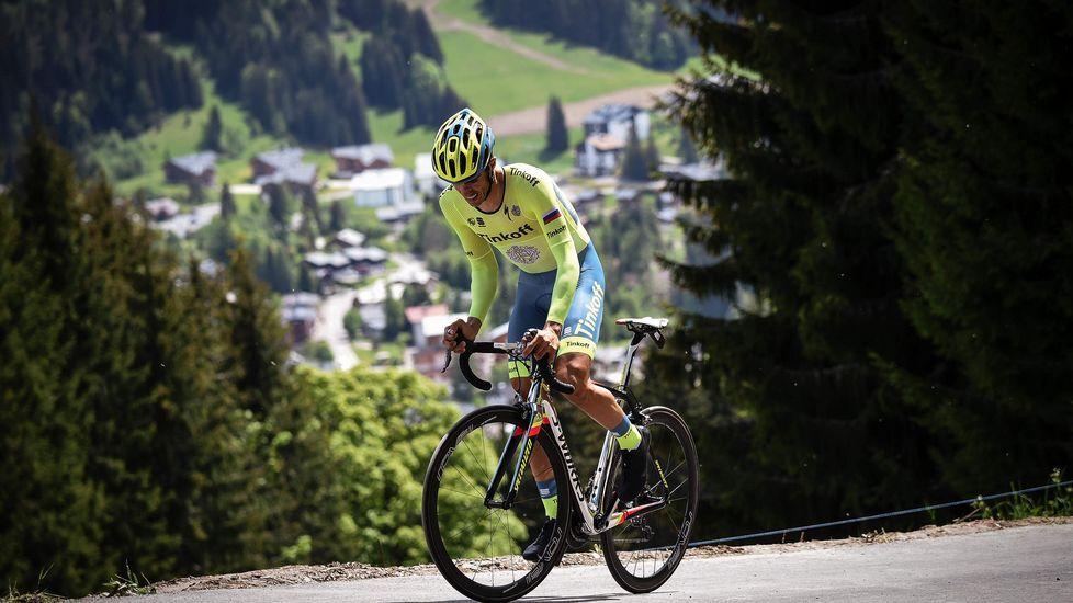 Contador se mostró feliz tras su triunfo en la Dauphiné.