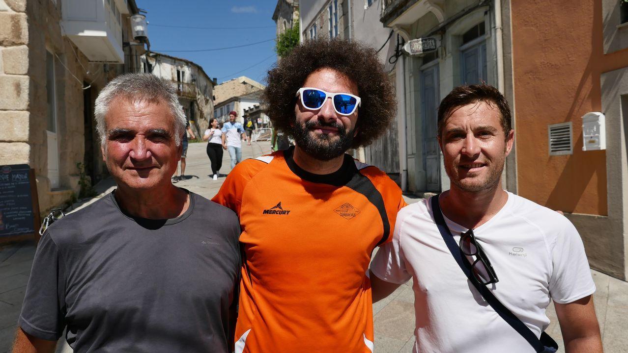 Pedro, Carlos y Curro en Sarria