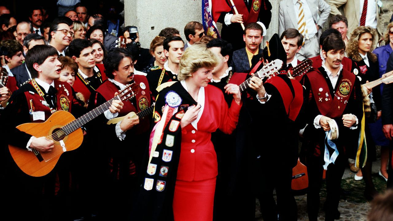 Diana de Gales en Salamanca durante un viaje oficial de tres días a España.