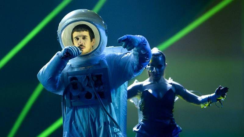Raquel del Rosario, de El sueño de Morfeo, en el segundo ensayo del festival de Eurovisión, que se celebra en Malmö.
