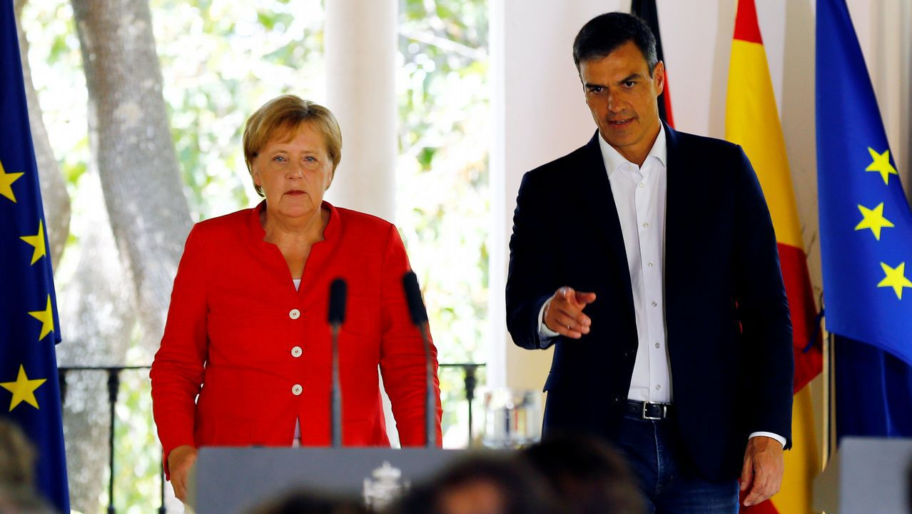 Visita de Angela Merkel a España para reunirse con Pedro Sánchez