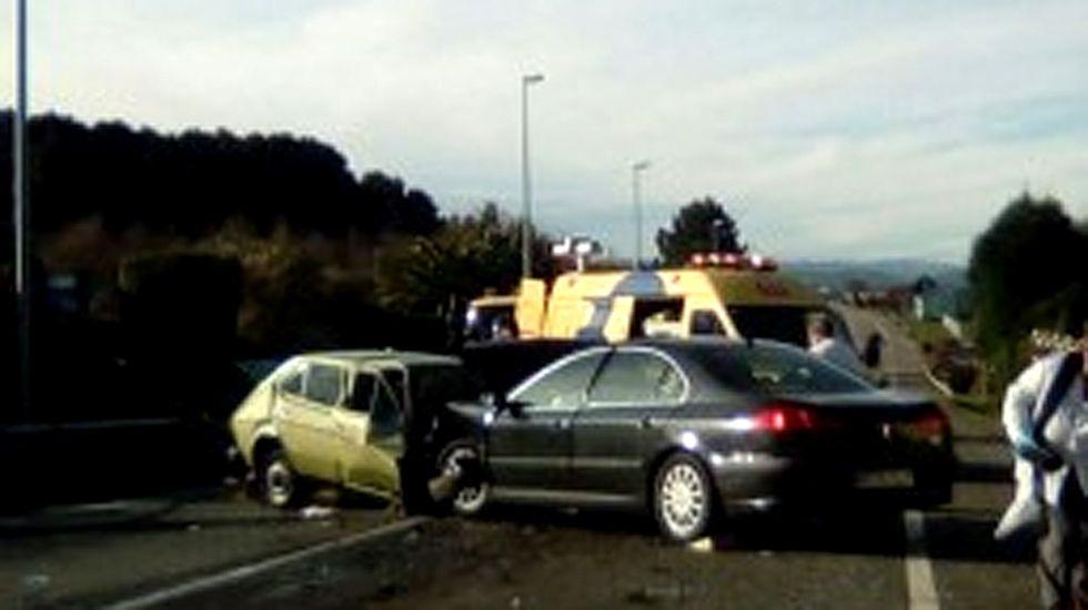 Accidente de tráfico en una carretera asturiana