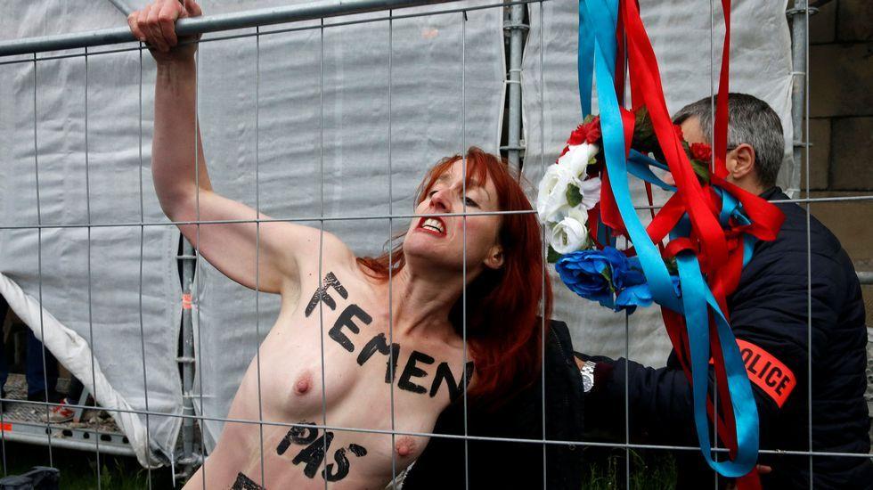 Protesta de Femen en Henin-Beaumont
