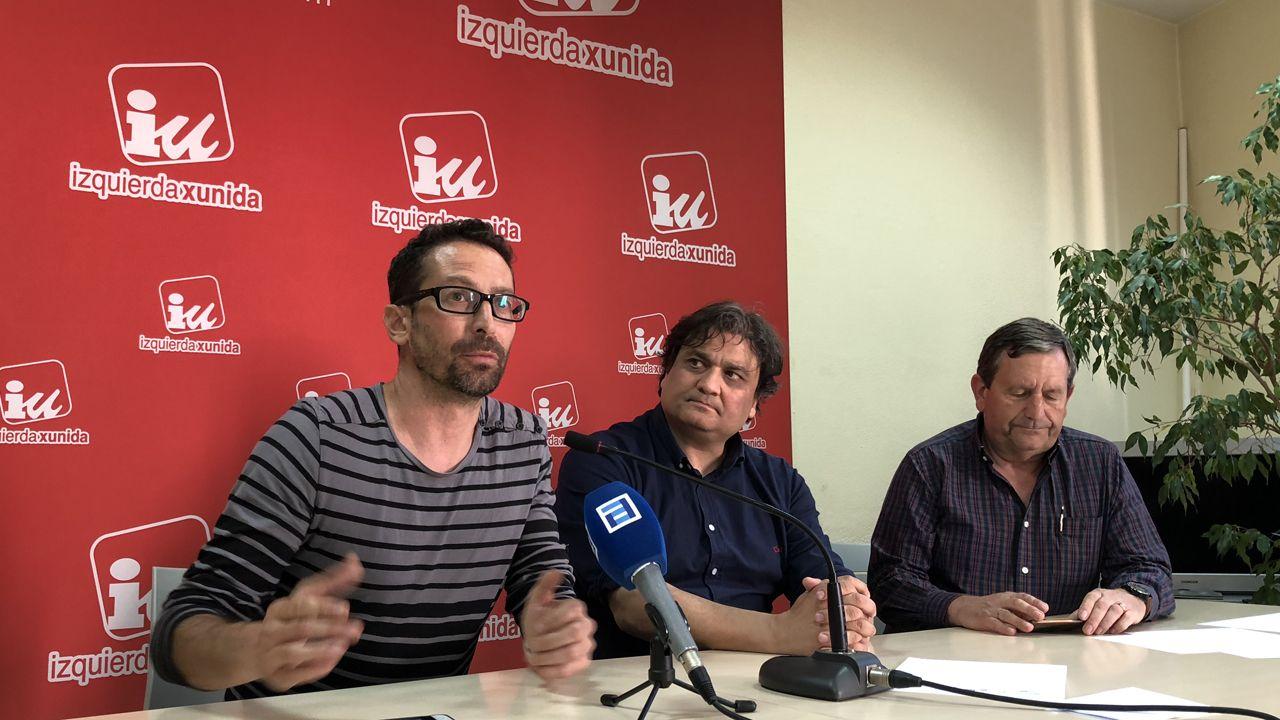 Residencia Spa del Montepío de la Minería, en Felechosa.Ismael González, Alejandro Suárez y Fernando Díaz Rañón