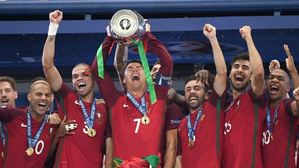 La final de la Eurocopa, en fotos.El primer ministro portugués, António Costa
