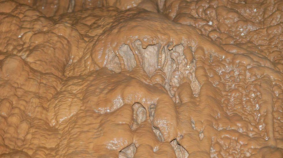 Outro aspecto das formacións calcáreas do interior da cavidade
