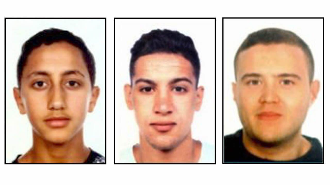 Tres de los cinco abatidos en Cambrils: Moussa Oukabir, Said Aallaa y Mohamed Hichamy